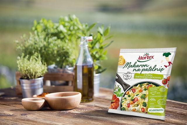 Makaron na patelnię z sosem śmietanowo-ziołowym Hortex