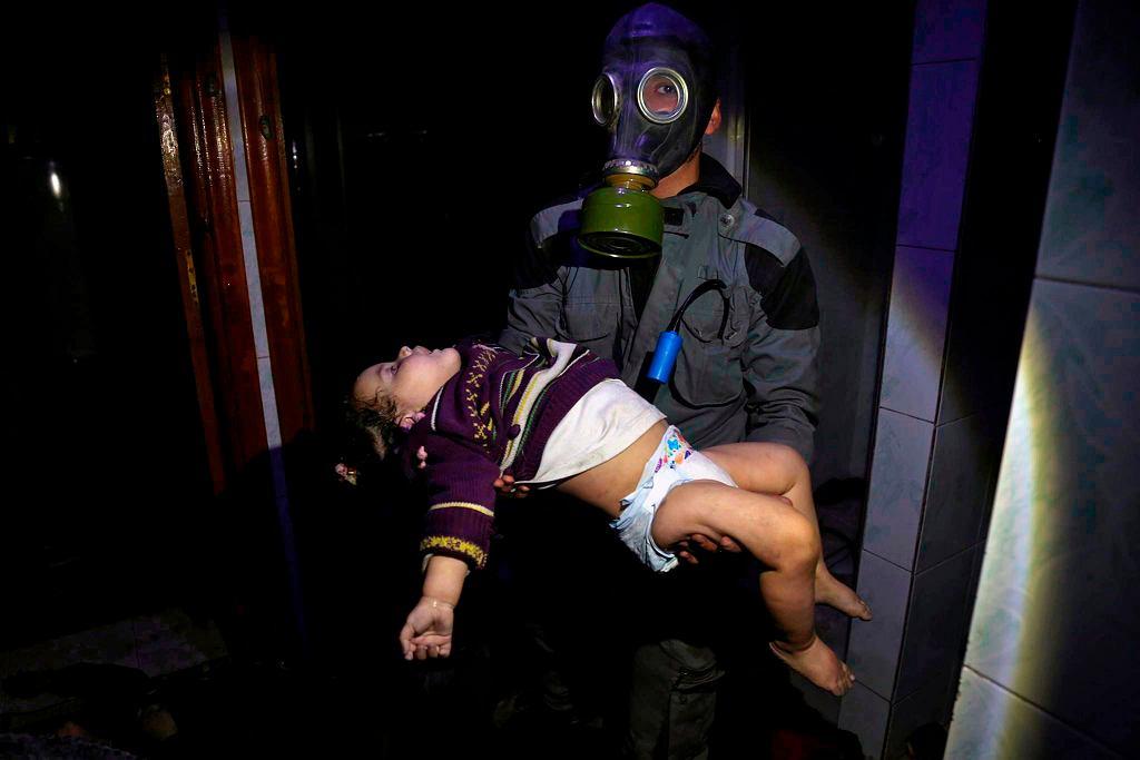 Ofiara ataku bronią chemiczną w Syrii, 8 kwietnia 2018 r.
