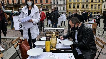 Epidemia koronawirusa. Protest wrocławskiej gastronomii