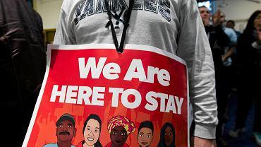 14 stycznia, protest w Waszyngtonie przeciwko imigracyjnej polityce Trumpa