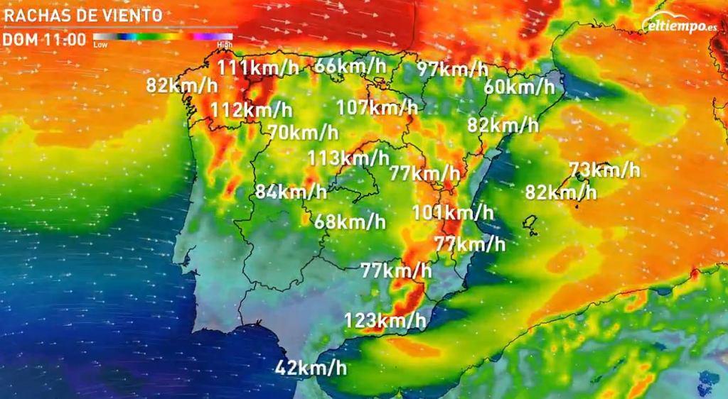 W niedzielę porywisty wiatr przesuwał się w głąb kraju