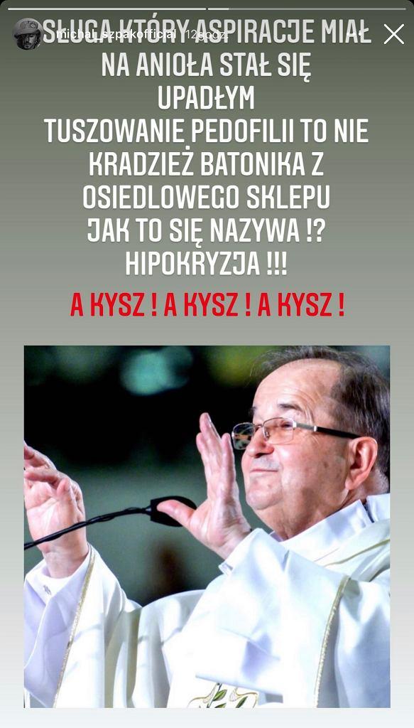 Michał Szpak komentuje słowa Rydzyka