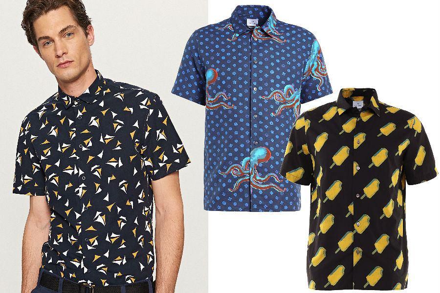 Koszule we wzory z krótkim rękawem
