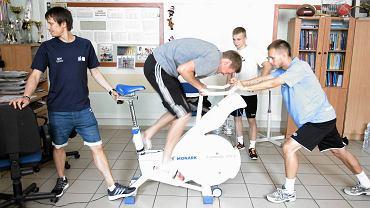 Piłkarze Stomilu Olsztyn na badaniach wydolnościowych