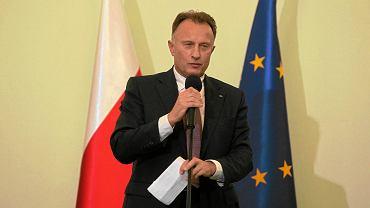 Marek Goliszewski, prezes Business Centre Club. Na zdjęciu:  podczas prezentacji kandydatów ruchu Obywatele do Senatu.  Warszawa, 20 sierpnia 2011 r.