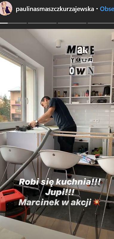 Kuchnia w mieszkaniu Pauliny Smaszcz-Kurzajewskiej