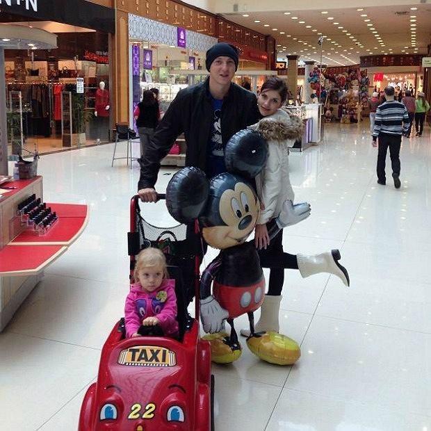 Alexey Spiridonov z rodziną