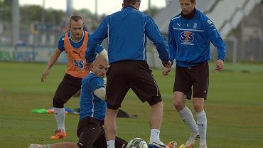 Trening Lecha Poznań. Kasper Hamalainen, Gergo Lovrencsics i Marcin Matysiak