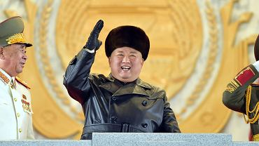 Korea Północna. Parada wojskowa w Pjongjangu