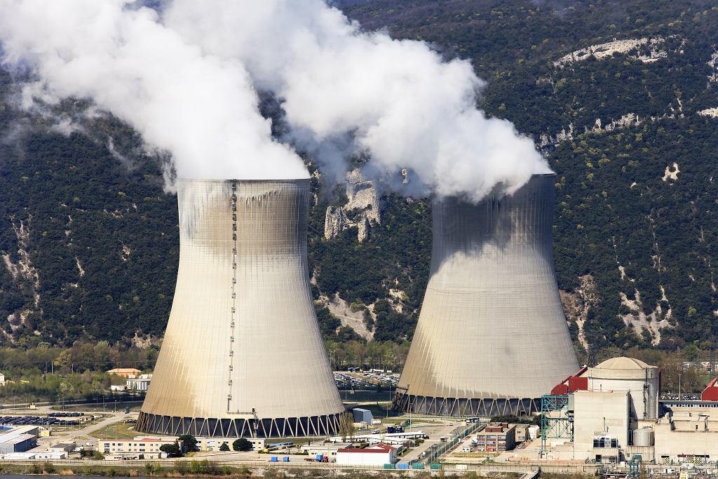 Francja, elektrownia atomowa.