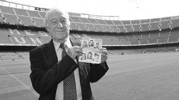 Justo Tejada (zm. 01.2021) były piłkarz FC Barcelony i Realu Madryt. Miał 88 lat. Źródło: Twitter