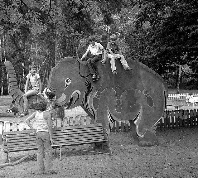 Słoń Trąbalski na Bielanach