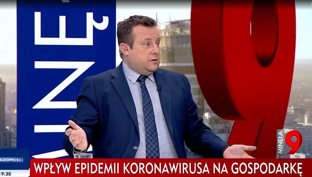 fragment programu 'Minęła 9' w TVP Info