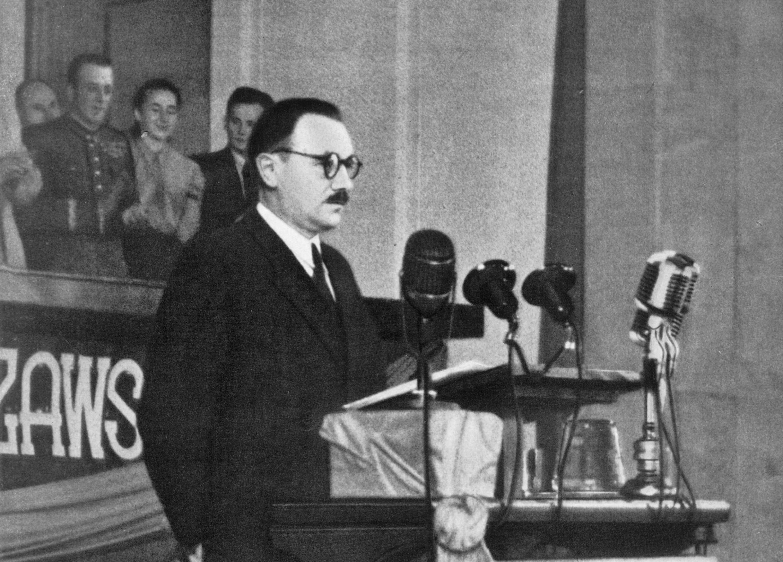 Bolesław Bierut w 1949 r. (fot. Stanisław Dąbrowiecki / Agencja Fotograficzna - Film Polski)