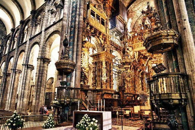 Hiszpania, katedra wSantiago deCompostela
