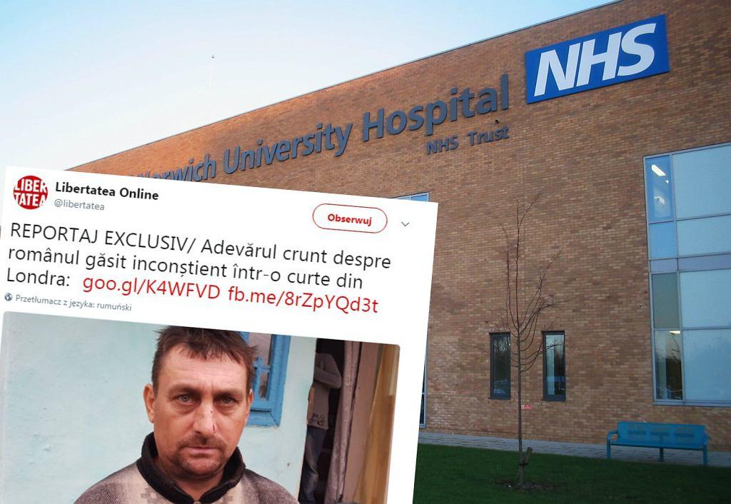 Obywatel Rumunii nie mógł sobie przypomnieć, jak znalazł się w brytyjskim szpitalu