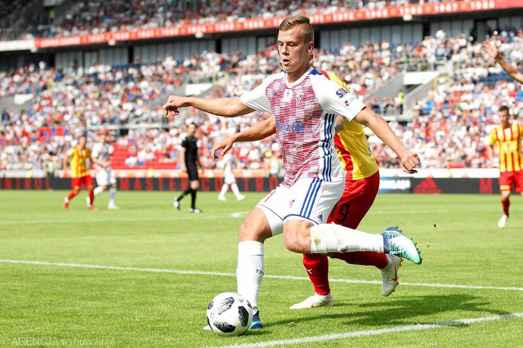 Daniel Smuga podczas meczu Górnik Zabrze - Korona Kielce (1:1)