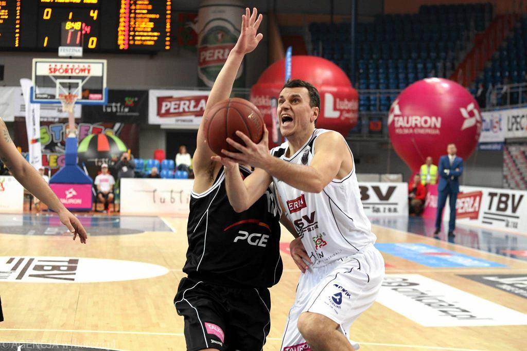 Start Lublin - Turów Zgorzelec 78:101. Z piłką Marko Popović