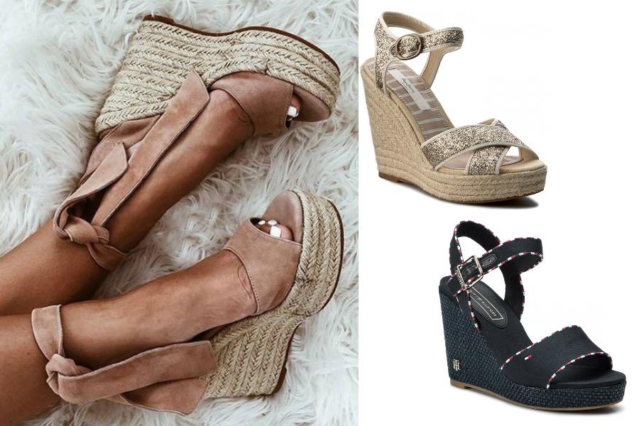 09f1b9e7 Wygodne buty na koturnie na sezon wiosna-lato. Wiele modeli z wyprzedaży