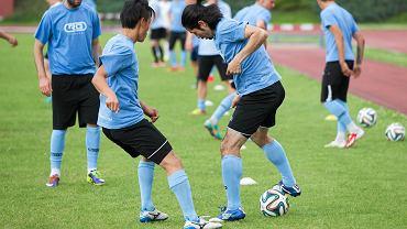 Stomil podczas treningu na stadionie w Kortowie