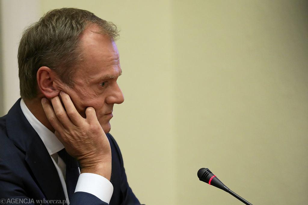 .Donald Tusk przed komisja do sprawy Amber Gold