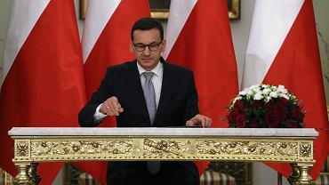 Mateusz Morawiecki na zaprzysiężeniu rządu (fot. Sławomir Kamiński/AG)