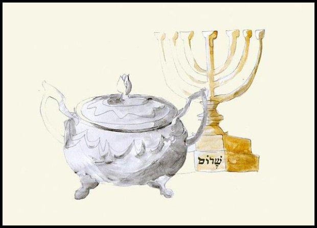 Symboliczna cukiernica i podejrzany świecznik. rys. Yagna Magna, źródło: http://karo.iwasz.pl/blog/