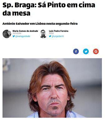 Ricardo Sa Pinto może zostać trenerem Bragi