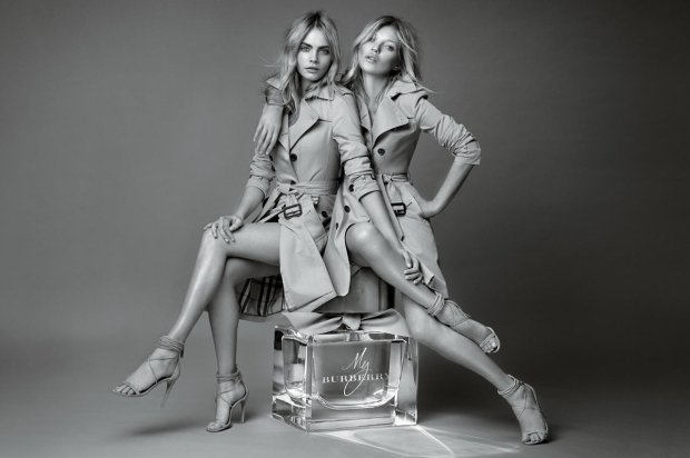 Cara Delevingne i Kate Moss w kamapnii zapachu Burberry