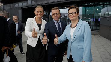 Wybory samorządowe 2018. Barbara Nowacka (po lewej) i Katarzyna Lubnauer (po prawej) chcą mobilizować Polki