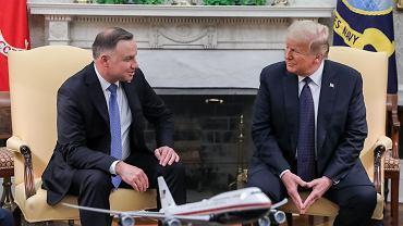 Spotkanie prezydenta Polski Andrzeja Dudy z prezydentem USA Donaldem Trumpem