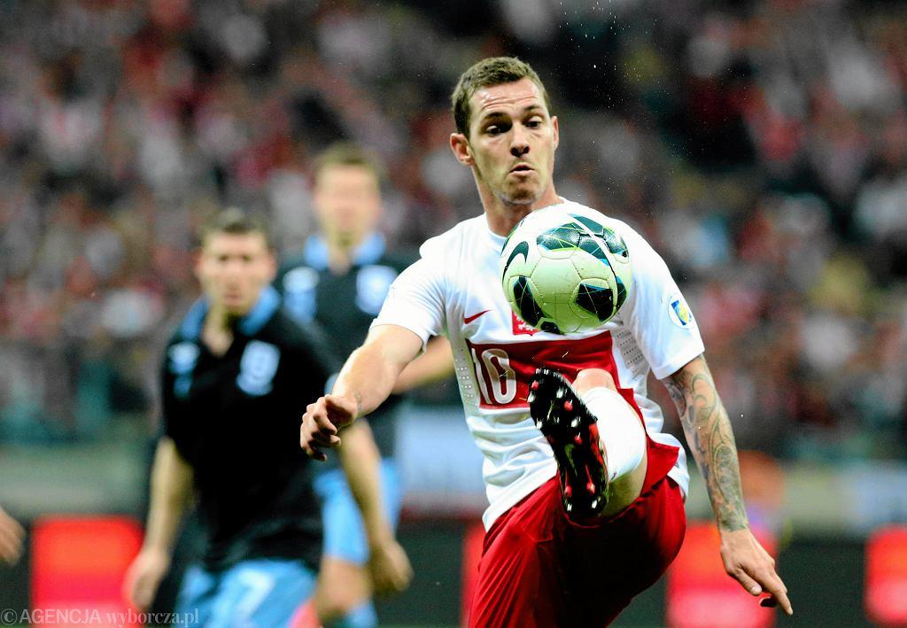 Ludovic Obraniak w meczu Polska-Anglia podczas eliminacji Mistrzostw Świata w 2012 roku