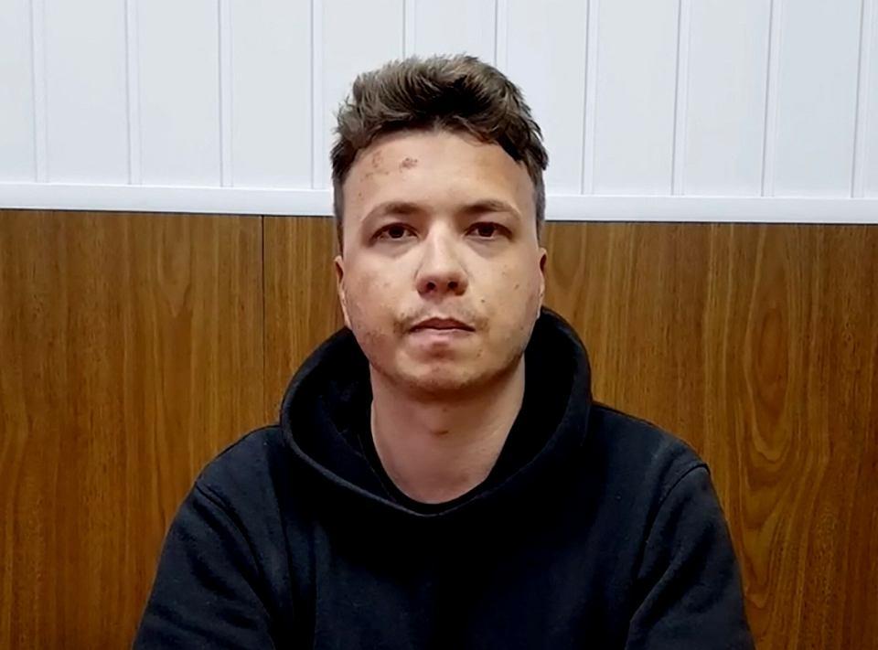 Nagranie wideo Romana Pratasiewicza z aresztu