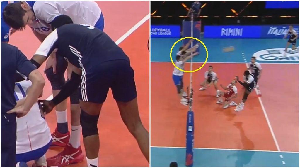 Wilfredo Leon podczas meczu Rosja - Polska