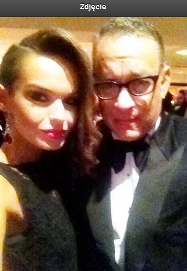 Kasia Sowińska i Tom Hanks