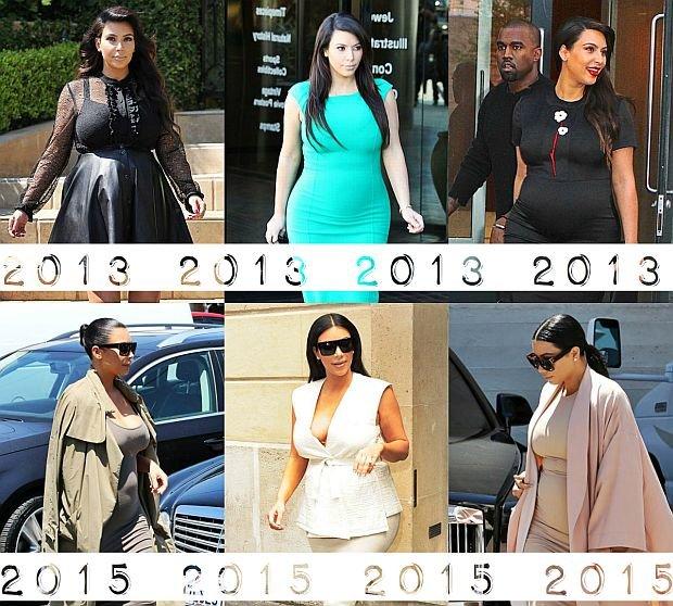 Stylizacje ciążowe Kim Kardashian - rewolucja i ewolucja stylu