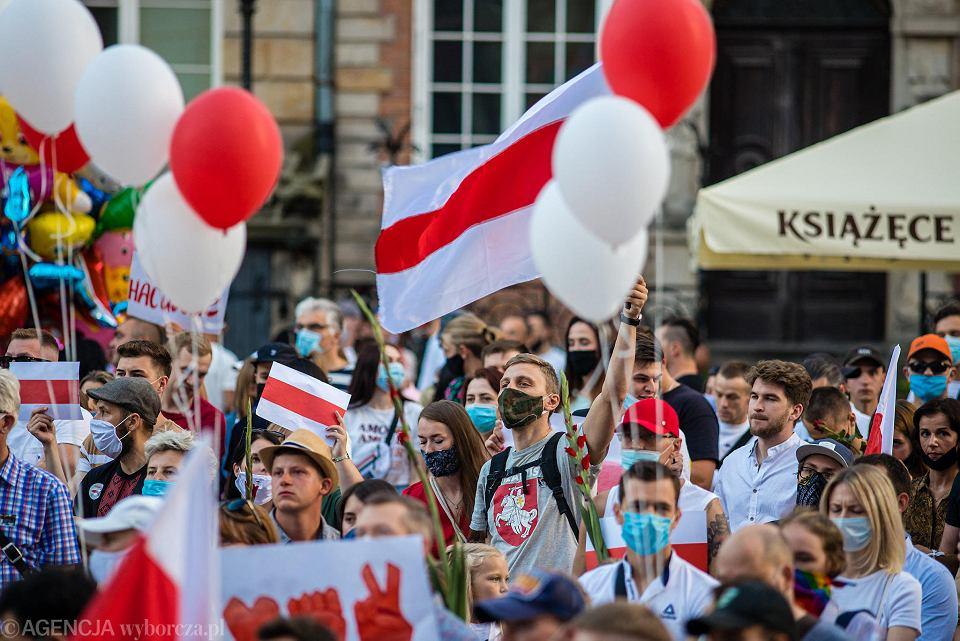 Akcja solidarności z Białorusią w Gdańsku. To sprzeciw wobec represji reżimu Łukaszenki
