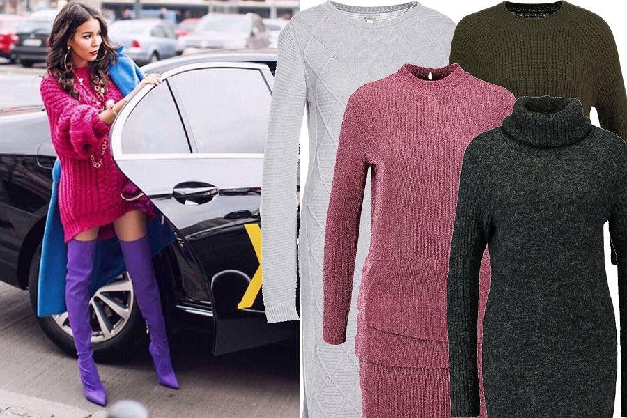 Kolaż, Sukienka jak sweter/Materiały partnera