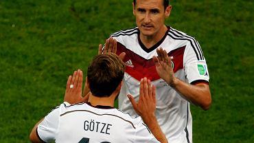 Mario Goetze i Miroslav Klose