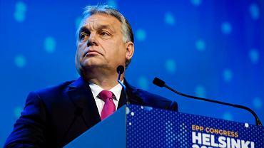 Premier Węgier Wiktor Orban podczas kongresu Europejskiej Partii Ludowej (EPL) w Helsinkach. 8 października 2018