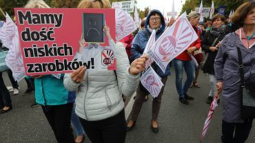 Protest nauczycieli we wrześniu 2018 roku