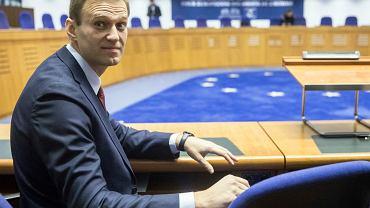 Aleksiej Nawalny w Europejskim Trybunale Praw Człowieka w Strasburgu, 15.11.2018 r.