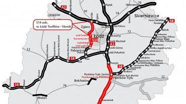 Zachodnia obwodnica Łodzi, droga S14 Teofilów - Słowik