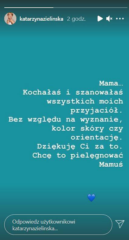 Katarzyna Zielińska żegna matkę