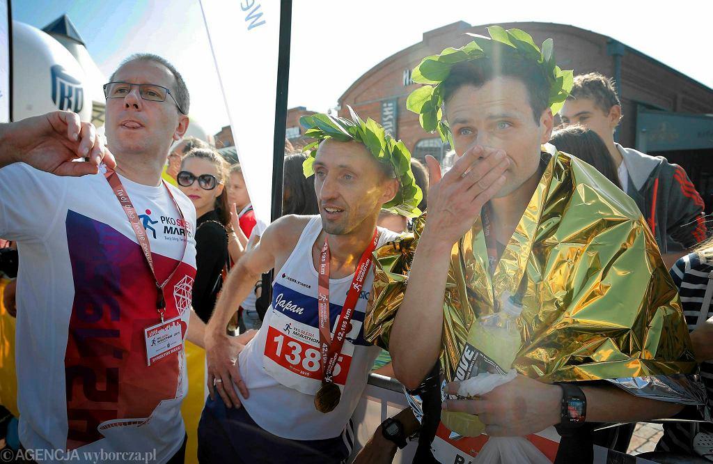 Zwycięzca PKO Silesia Marathon 2015 Solo Taras z Ukrainy i Rafał Czarnecki