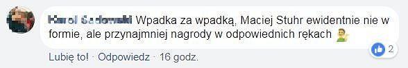 Komentarz z fanpage'a Orłów na FB