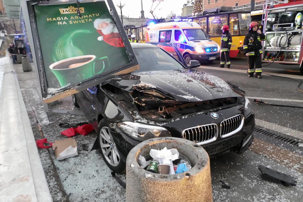#Wypadek na Trasie W - Z w Warszawie