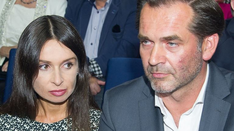 Marta Kaczyńska z mężem
