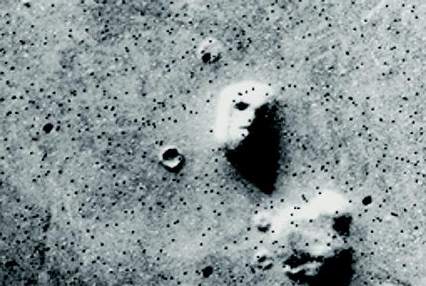 'Twarz' zarejestrowana przez sondę Voyager 1
