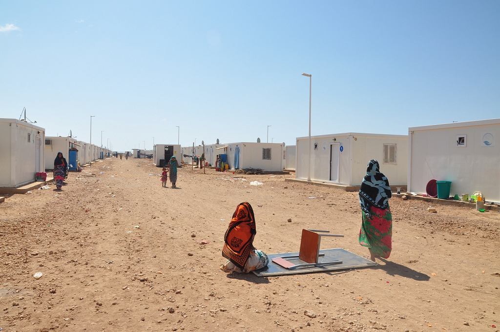 Obóz uchodźców z Jemenu w Dżibuti
